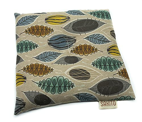 Bolsa de Semillas para Microondas de Trigo y Lavanda Forma Cuadrado   25x25 cm   Frío y Calor