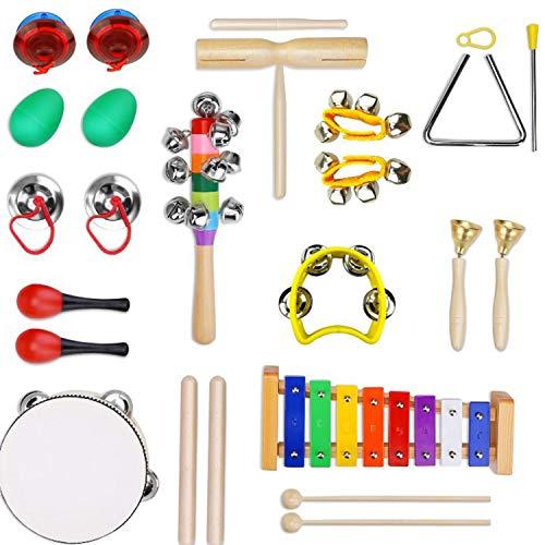 YXXHM- Set di Strumenti Musicali Educazione precoce per Bambini Musica Combinazione di percussioni 13 Serie di Materiale didattico per la Scuola Materna