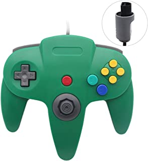 Sp full 1 Pack Upgraded Joystick Classic Wired Controller Compatible with N64 (Green2)