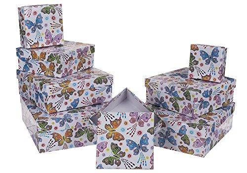 Caja Libro Mariposas Disponibles 5 Modelos. Modelo A, 27x18x7 cm Tiendas Mi Casa