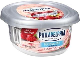 Philadelphia Reduced Fat Strawberry Cream Cheese Spread, 8 Ounce -- 12 per case.