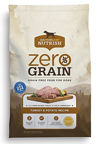 Rachael Ray Nutrish Zero Grain Natural Dry Dog Food, Grain Free Turkey & Potato Recipe, 14 Lbs