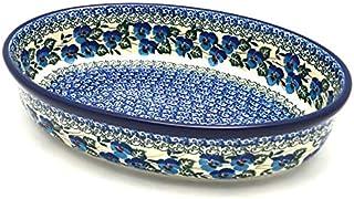 Polish Pottery Baker - Oval - Medium - Winter Viola