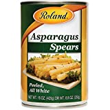 CANNED WHITE ASPARAGUS: Peeled asparagus spears carefully chosen to ensure very little strings SOFT AND DELICATE: Subtle flavor with a tender texture that is still firm to the bite READY TO EAT: These white asparagus spears are precooked and ready to...
