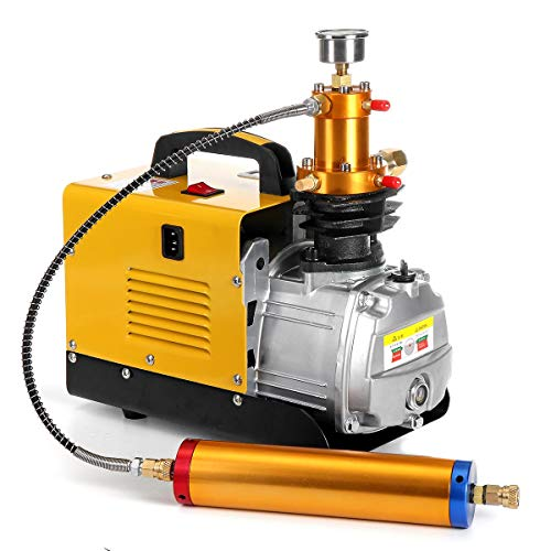 HKUN - Bomba de Aire eléctrica de 220 V, 4500 PSI, 1,8 kW, Bomba Inflable de Alta presión, compresor de Aire de 40 MPa, fácil de Instalar