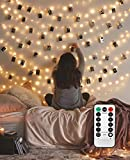 8 Modes 40 LED Photo Clip String Lights with Remote, Indoor Fairy String Lights for Hanging Photos Pictures Cards, Ideal Gift for Bedroom Decoration (USB Powered 40 LED)