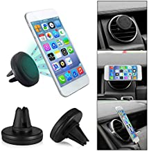 Universal Air Vent Magnetic Phone Car Mount Holder with Fast Swift-Snap Technology for Smartphones and Mini Tablets, Black