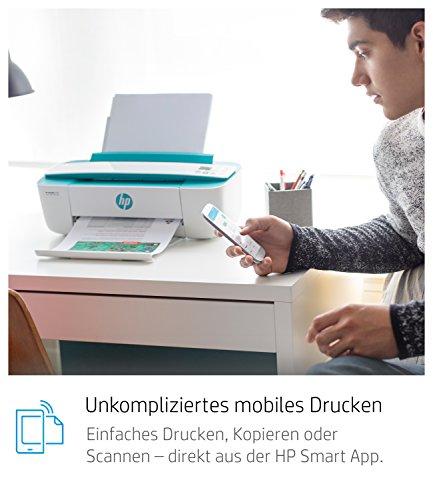 HP DeskJet 3762 Multifunktionsdrucker (Drucken, Scannen, Kopieren, WLAN, Airprint, mit 2 Probemonaten HP Instant Ink Inklusive) dunkelgrün