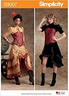 Simplicity Sewing Pattern S9007 H5 Misses' Steampunk Costume Jacket and Skirt, Size 6-14