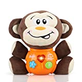 STEAM Life Plush Musical Baby Toys - Educational Baby Toy - Musical Toy for Baby 0 to 18 Months - Baby Light Up Toys - Educational Musical Toys for Infants Babies Toddlers 0 3 6 9 12 Month (Monkey)