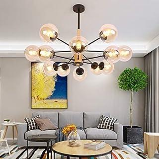 Lámpara de techo Home L  u0026 aaCute; Lámpara de techo creativa Lámpara de techo de cristal Lámpara de techo simple del dormitorio de la personalidad (Color: Negro)