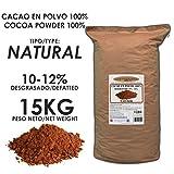 Cacao Venezuela Delta - Cacao en Polvo Puro 100% · NATURAL · Desgrasado 10-12% · 15kg