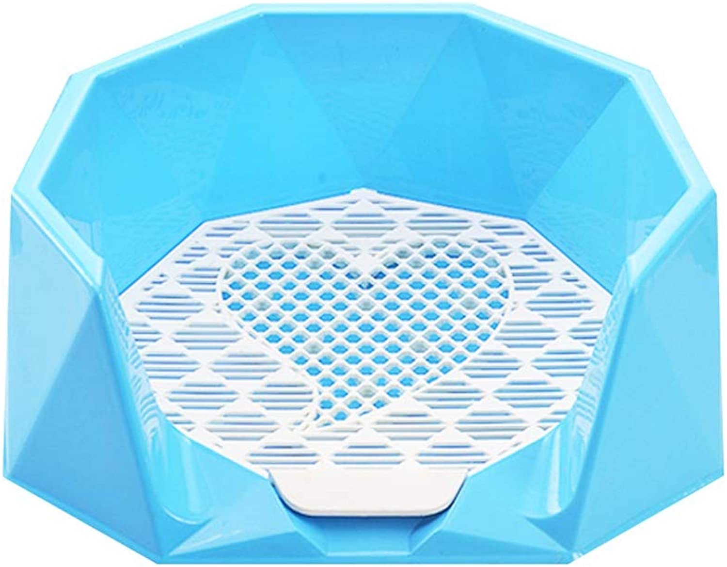 Pet Dog Toilet Dog Supplies Urinal Basin Easy To Clean Shit Bedpan Pet Supplies Sturdy and beautiful (color   bluee)
