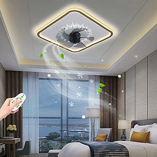 ZBYL Ventilador de Techo con Mando a Distancia LED Ultra Silencioso Fan Plafon de Techo Regulable para InfantilDormitorio Salón 3 Velocidades De Viento Ventilador de Lámparas