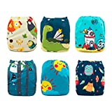 Best Cloth Diapers - Babygoal Baby Cloth Diapers Washable Pocket Nappy, 6pcs Review