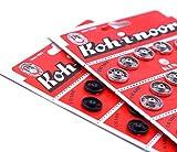 36 Botones Automáticos. Corchete Kohinoor. Botón automático metálico color Niquel. Snap fasteners. Automático metálico color Niquel T4. 12,5 mm