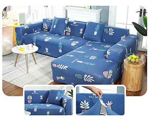 FSYGZJ Funda elástica Suave y Gruesa para sofá, Fundas elásticas de protección para Muebles de fácil Ajuste (el sofá Tipo L Necesita Dos Fundas para sofá) K 1 Plaza