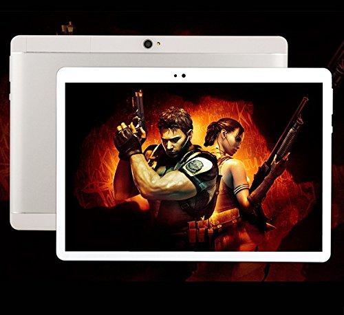 10.1 Pulgadas Android 7.0 Tablet PC Octa Core HD Display 2560x1600 4G Call Tablets 4GB RAM 64GB Tarjeta Dual SIM 8.0MP WiFi Bluetooth Tablet PC (Plata