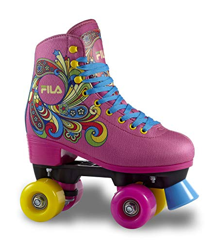 FILA SKATES Bella Quads, Niñas, Rosa, 33