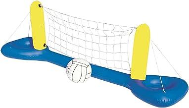 Conjunto inflável para piscina de voleibol, conjunto de jogo de vôlei de piscina, boia inflável para piscina, rede de vôle...