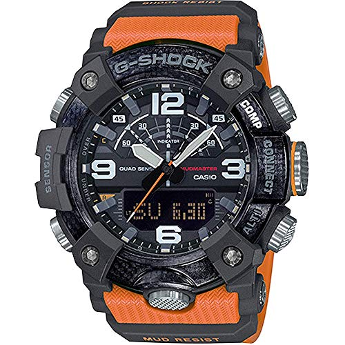 Casio GGB100-1A9 Mudmaster Men's Watch Orange 55.4mm Carbon/Resin