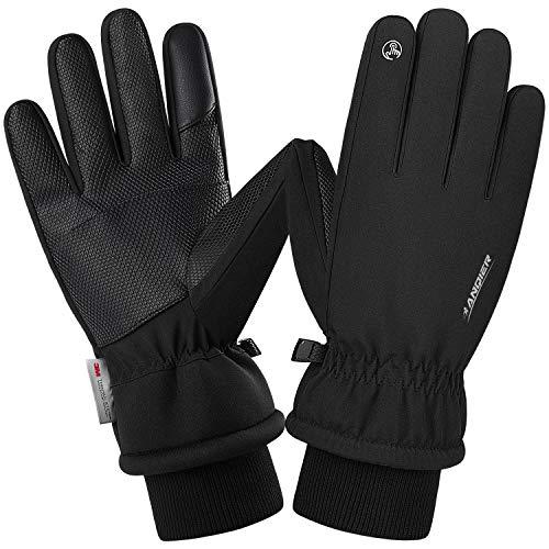 coskefy Winterhandschuhe Herren Damen Warm Skihandschuhe Kältebeständig Thermische 3M Baumwolle Winddicht Outdoor Sport für Reiten Laufen Skifahren Wandern Radfahren Motorrad Handschuhe