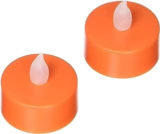 アムスカンプラスチックオレンジフリッカーライト(2パック)、オレンジ