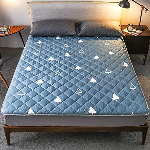 yangdan Colchón de futón japonés para piso, alfombrilla de tatami, rollo de cama japonés, colchón plegable enrollable, cama enrollable, almohadilla para colchón (color: B, tamaño: 0,9 x 1,9 m)