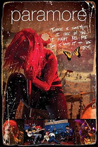 Cimily Paramore Music Poster Zinn Wand Zeichen Retro Kunst Eisen Malerei Metall Plakette 8 * 12 Zoll Wanddekoration Garten Poster Bar Café Schlafzimmer Hof