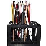 Comius Sharp 96 agujeros para lápices de plástico y portaescobillas, organizador de escritorio, soporte para lápices, bolígrafos, pinceles, herramientas de modelado, material de oficina y arte