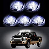 LBRST 5 pcs smoke Lens w/T10 194 168 White Light Bulbs Cab Marker Clearance Lights Waterproof Top Roof Running Lights fit for 1988-2000 Chevrolet C2500 C3500 K2500 /GMC C2500 C3500 K2500
