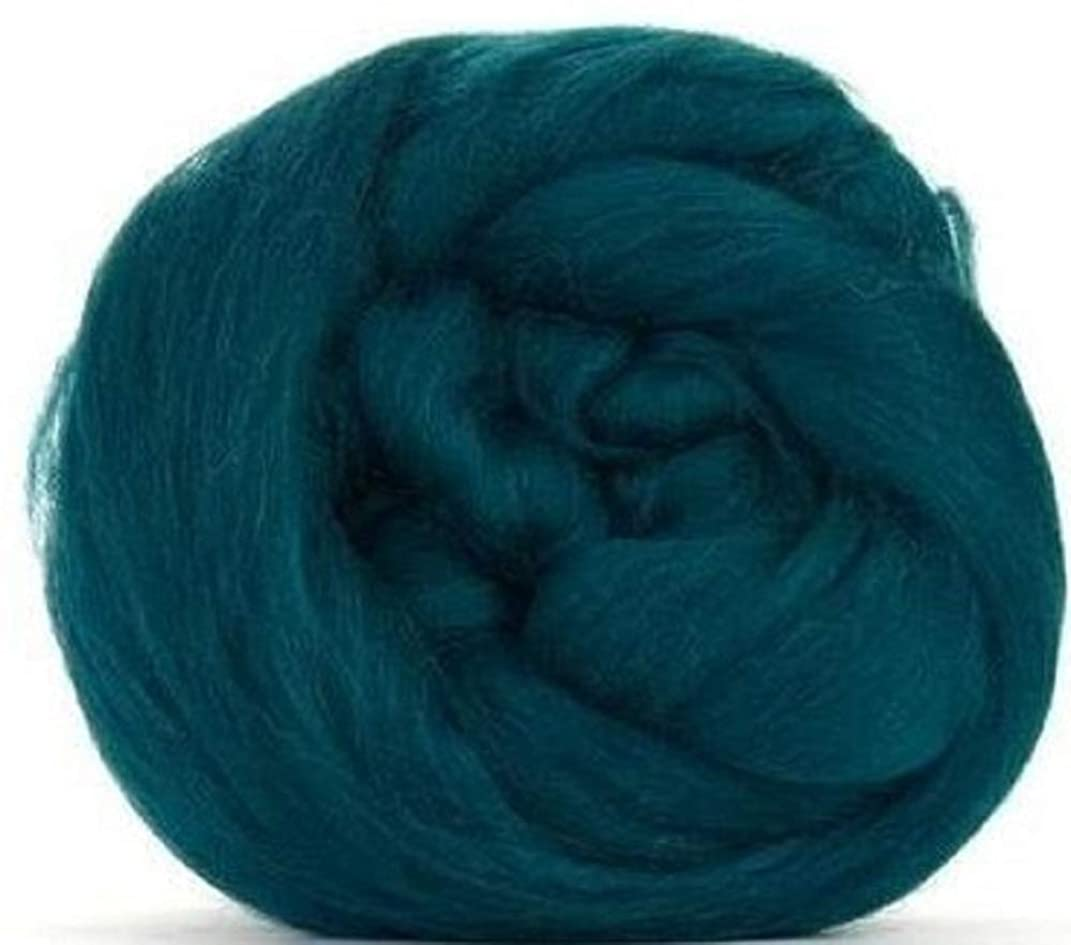 4 oz Paradise Fibers 64 Count Dyed Mallard (Green) Merino Top Spinning Fiber Luxuriously Soft Wool Top Roving for Spinning with Spindle or Wheel, Felting, Blending and Weaving
