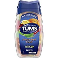 96-Tablets TUMS Antacid Chewable Tablets for Heartburn Relief, Extra Strength, Assorted Fruit