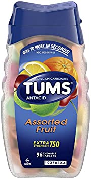 96-Tablets TUMS Antacid Chewable Tablets for Heartburn Relief