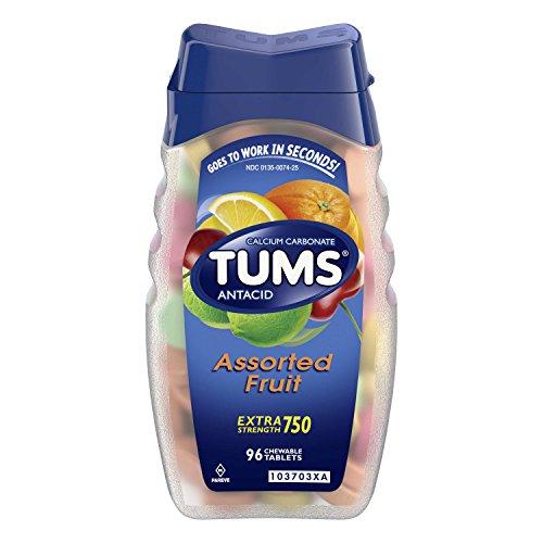Tums E-X Extra Strength Antacid/Calcium Supplement 96 ea, Assorted