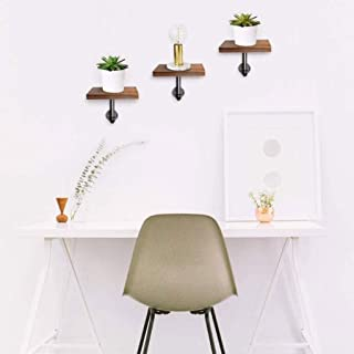 Étagère Tablette murale étagère en bois et métal - Ensemble de 3 flottant étagère suspendu étagère - étagère for Cadres Dé...