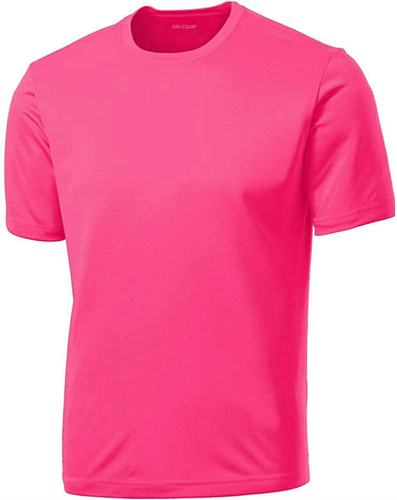 DRIEQUIP Mens Tall Short Sleeve Moisture Wicking Shirt,Cardinal-3XLT