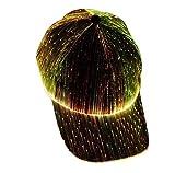 LED Fiber Optic Luminous hat Couple Luminous Cap Outdoor Luminous Peak Cap Baseball Cap Performance Cap (Color:Black)