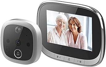 Taolin Campainha sem fio Wifi, tela de exibição de 4,3 polegadas Campainha de vídeo com câmera Visor de olho mágico de por...