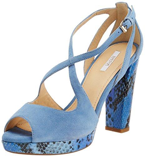 Geox Sandalo con Tacco Blu Indaco EU 38