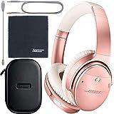 Bose QuietComfort 35 Series II Wireless Noise-Canceling Headphones (Rose Gold) (789564-0050) + AOM Bundle: International Version
