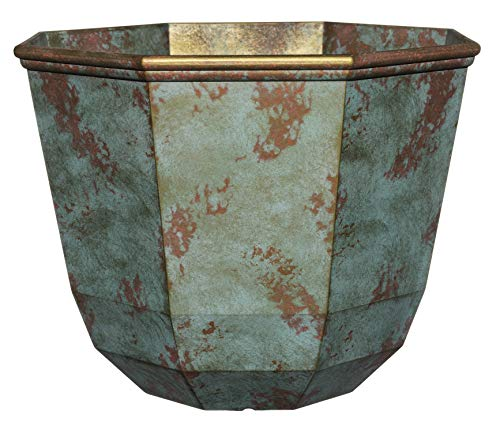 Classic Home and Garden 8005-378R Premiere Collection Planter, Shaina 15, Patina Copper
