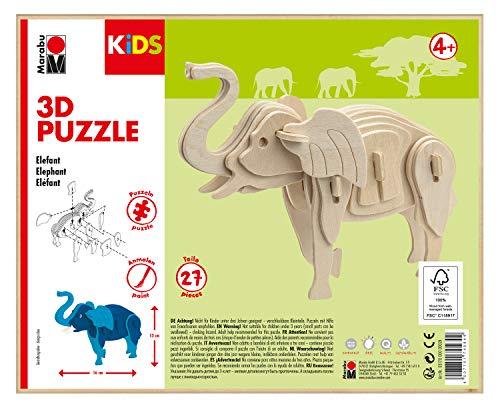 Marabu KiDS 3D houten puzzel olifant
