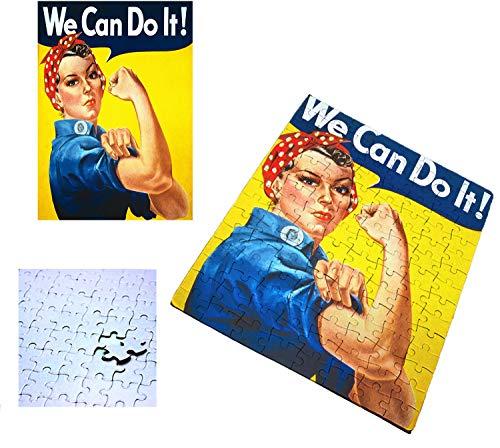 PUZZLE 120 PIEZAS LOGO FEMINISTA RETRO rompecabezas educativo puzle