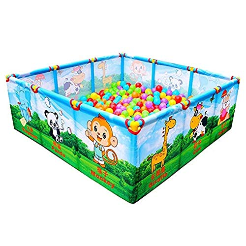 Lowest Prices! Byrhgood Playpen Baby Portable Cartoon Baby Fence Indoor/Outdoor, Reinforced Safety P...