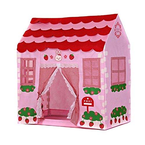 TOOGOO(R) Spielzelt Spielhaus Maedchen Stadt Haus Kinder Geheimer Garten Rosa Spiel-Zelt Grossartig Geschenk