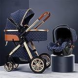 FXBFAG 3 en 1 Cochecito de bebé Silla de Seguridad para bebés...
