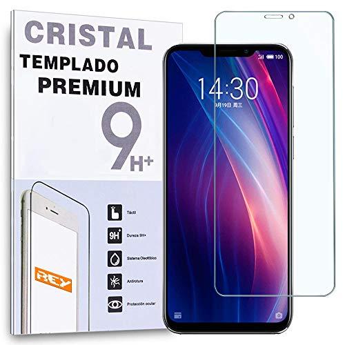 REY Protector de Pantalla para MEIZU X8, Cristal Vidrio Templado Premium