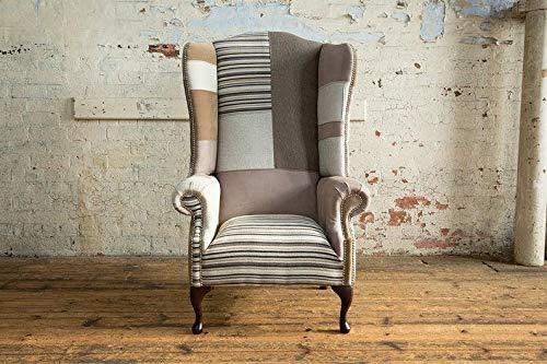 JVmoebel Chesterfield Ohrensessel Sessel 1 Sitzer Sofa Couch Polster Couchen Leder Textil