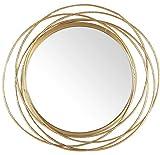 Mirrorize, IMP8450 - Espejo Redondo con Marco de Metal Industrial para Colgar (50,8 cm)